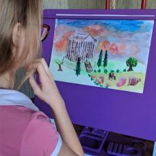 Парта конторка для рисования и творчества